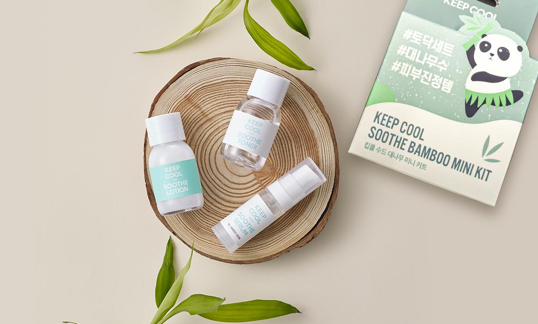 Keepcool bamboo toner-serum-lotion